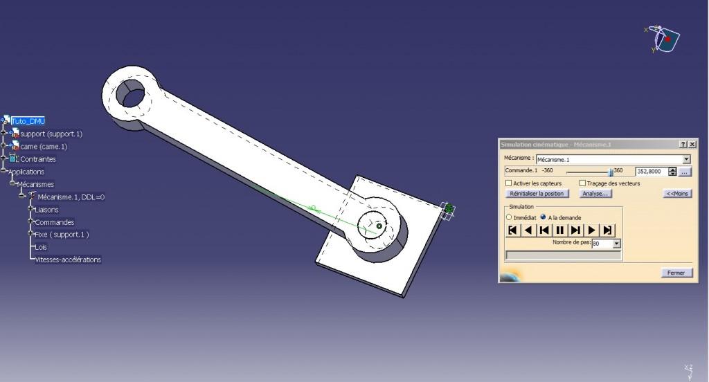 catia tutorial tutoriel dmu kinematics simulation cinématique